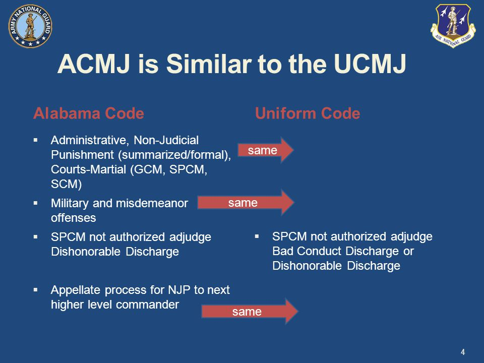 ACMJ is Similar to the UCMJ