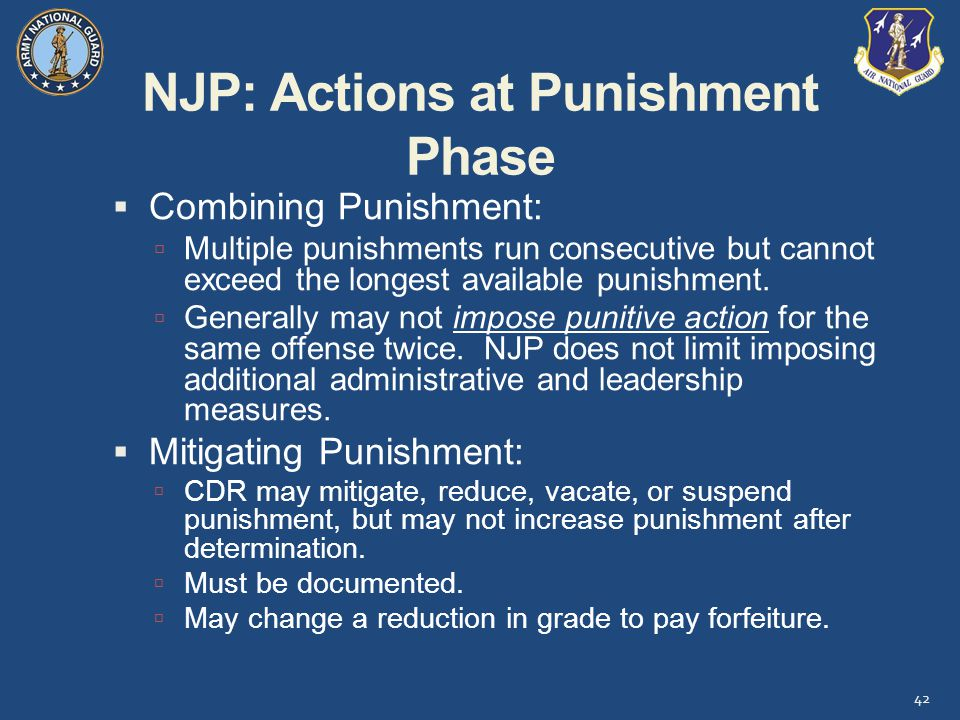 NJP: Actions at Punishment Phase
