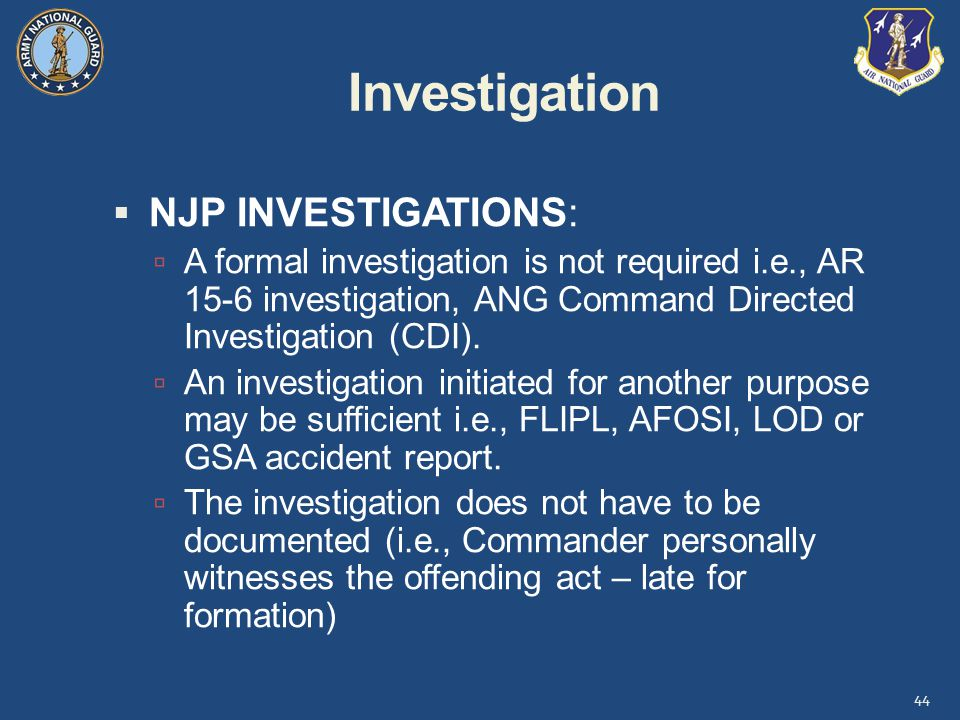 Investigation NJP INVESTIGATIONS: