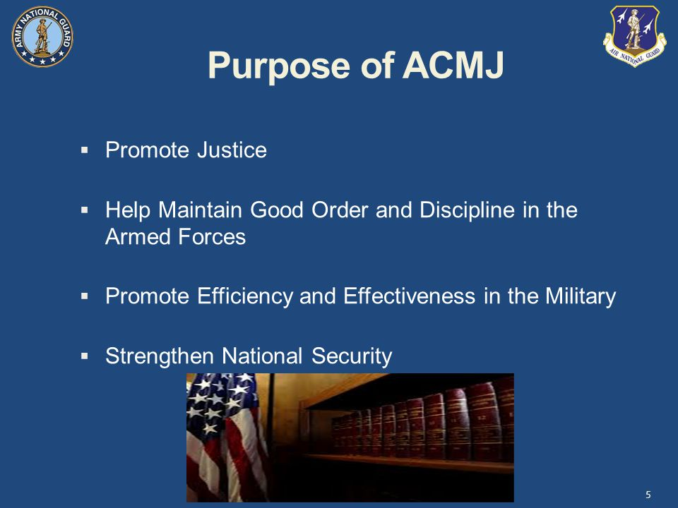 Purpose of ACMJ Promote Justice
