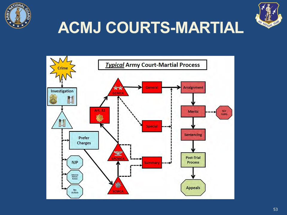 ACMJ COURTS-MARTIAL Instructor Comment: