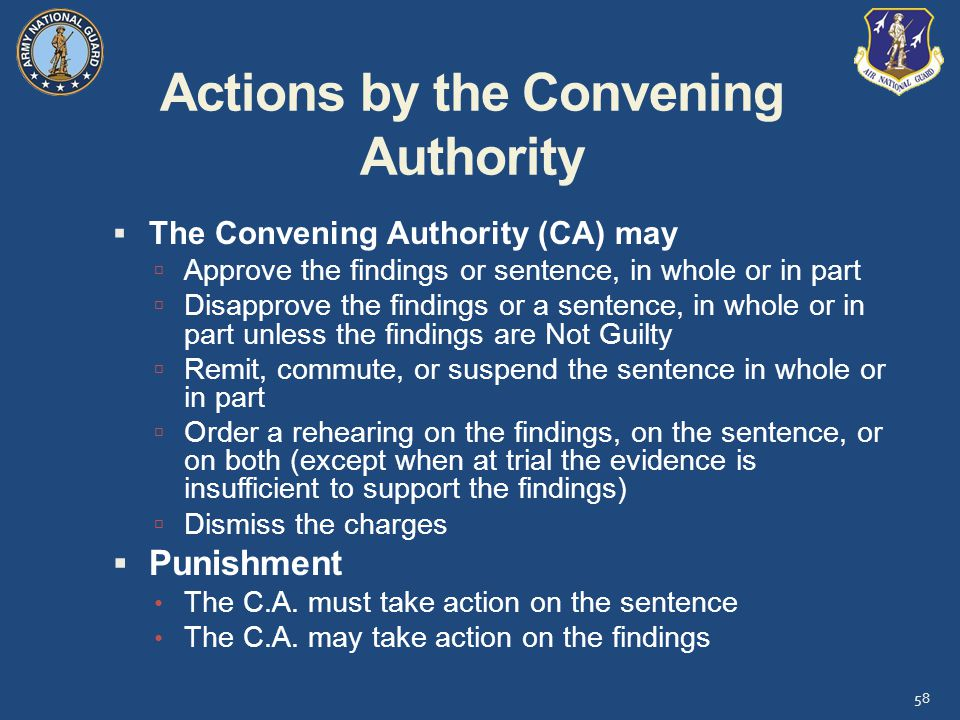 Actions by the Convening Authority