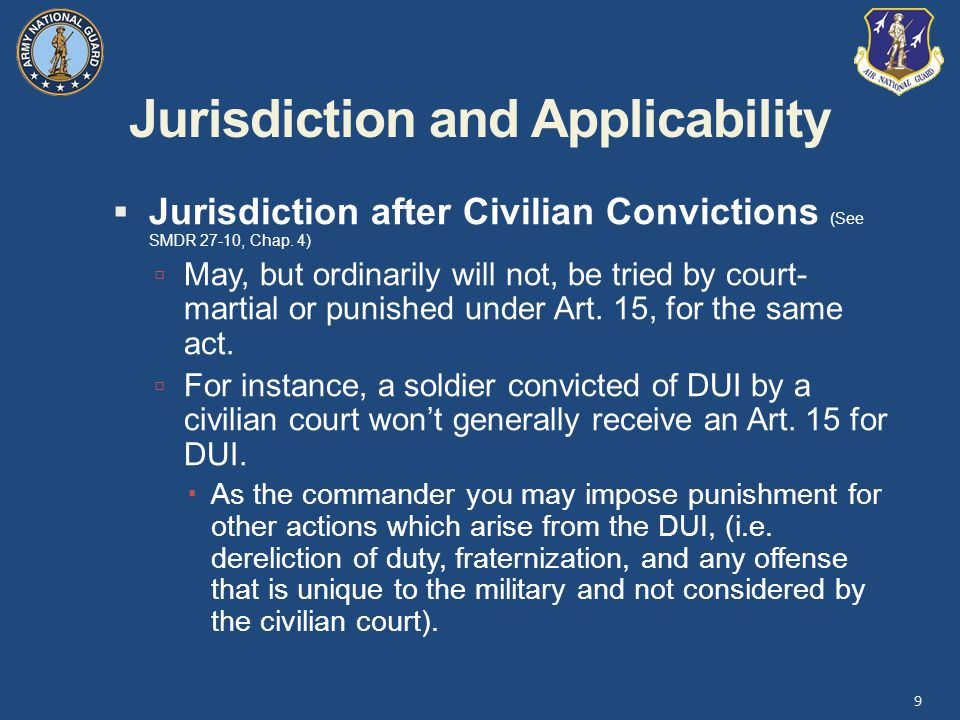 Jurisdiction and Applicability