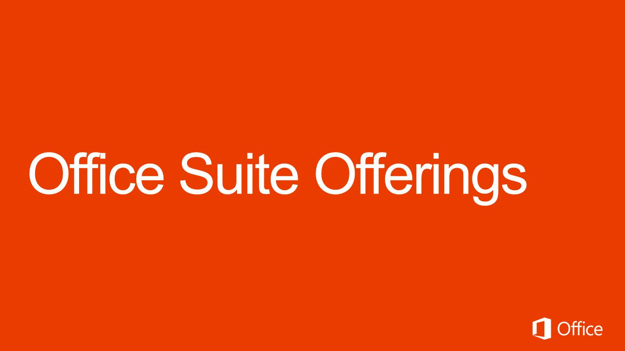 Office Suite Offerings