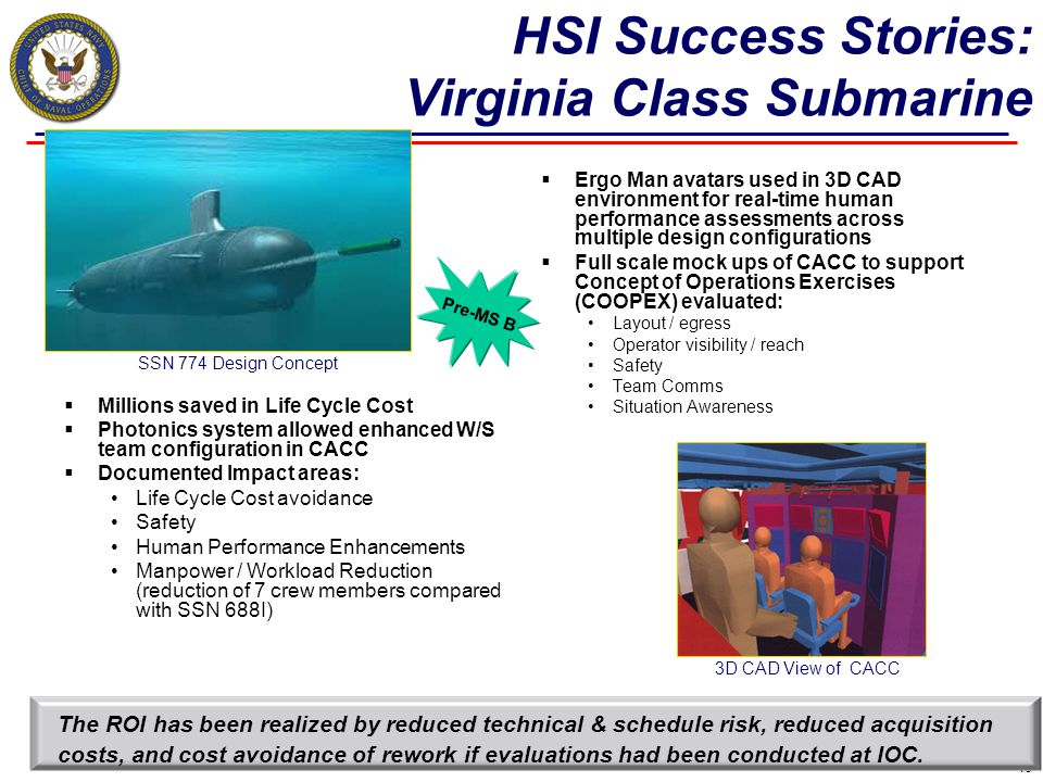 HSI Success Stories: Virginia Class Submarine