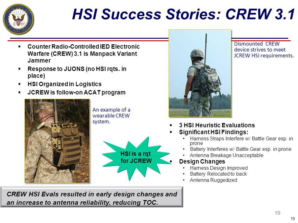 HSI Success Stories: CREW 3.1