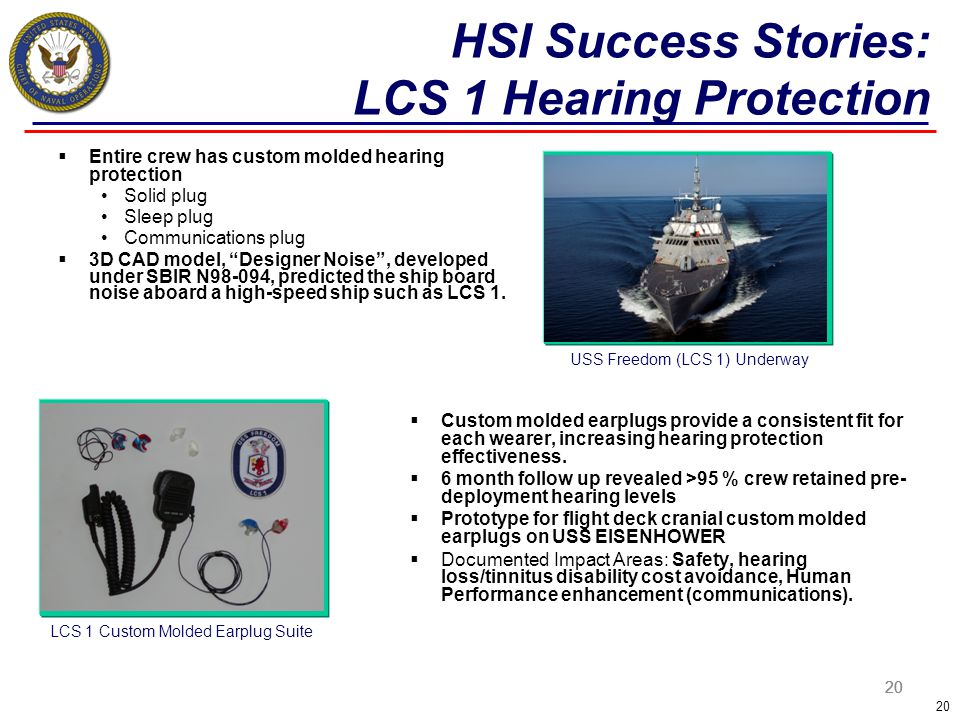 HSI Success Stories: LCS 1 Hearing Protection