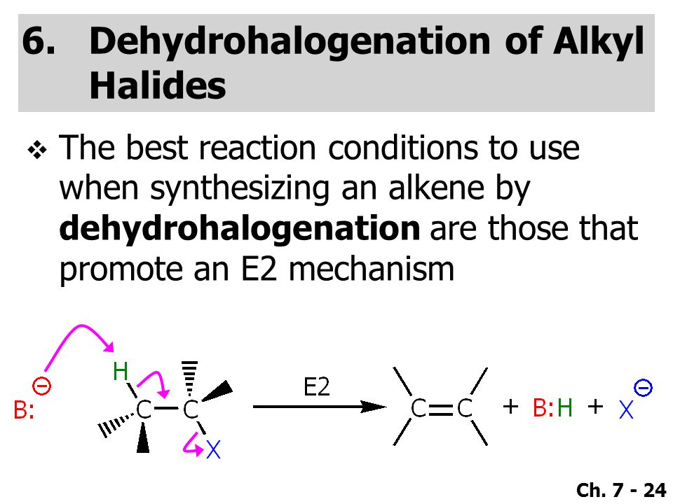 Dehydrohalogenation of Alkyl Halides