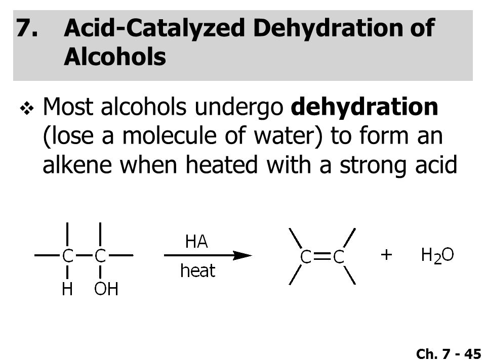 Acid-Catalyzed Dehydration of Alcohols