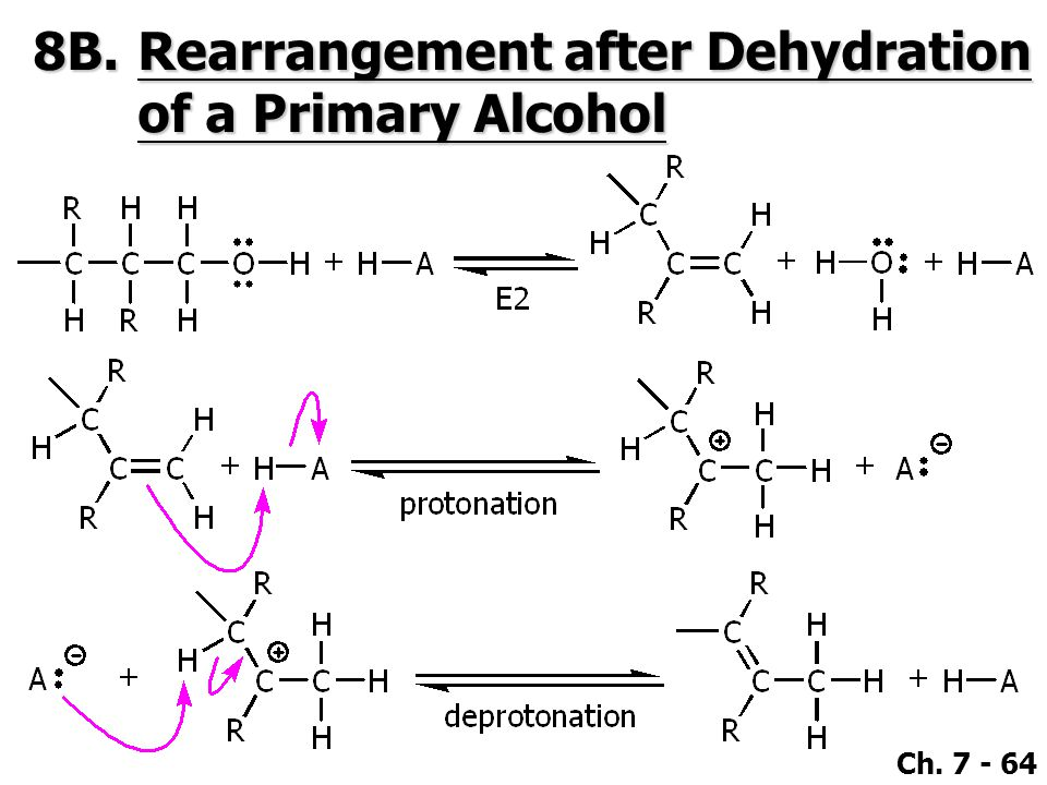 8B. Rearrangement after Dehydration of a Primary Alcohol