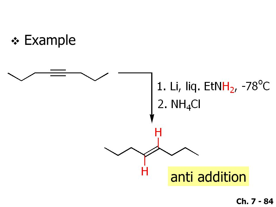 Example anti addition