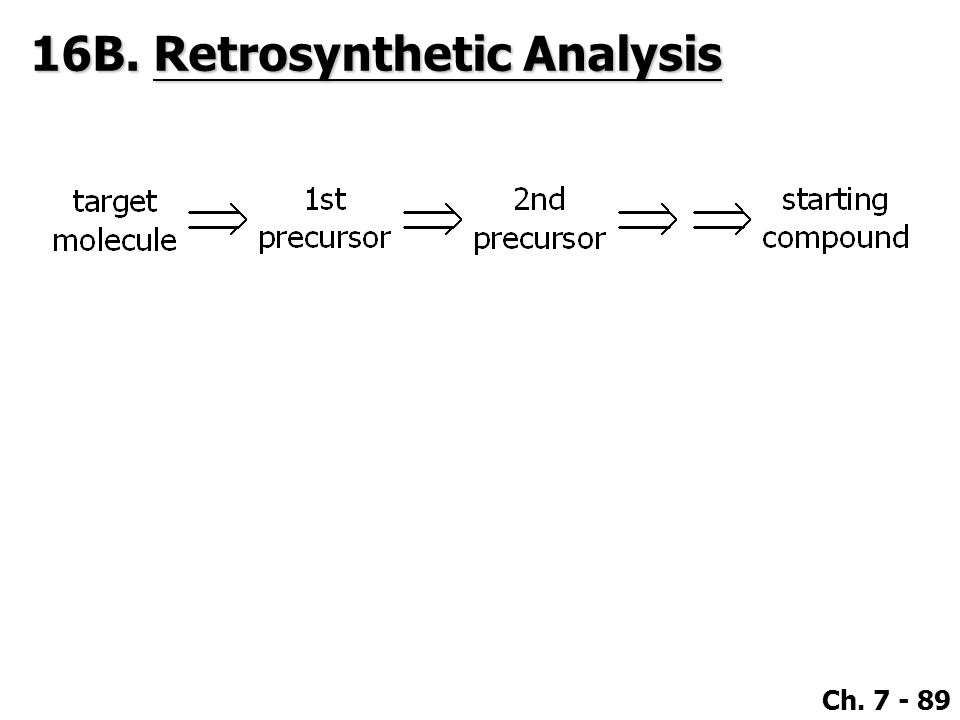 16B. Retrosynthetic Analysis