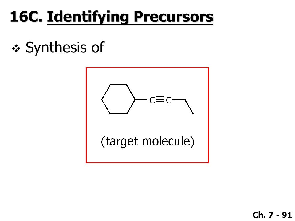 16C. Identifying Precursors
