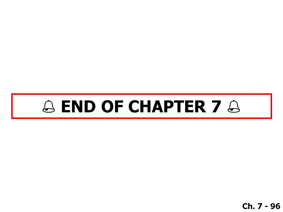  END OF CHAPTER 7 