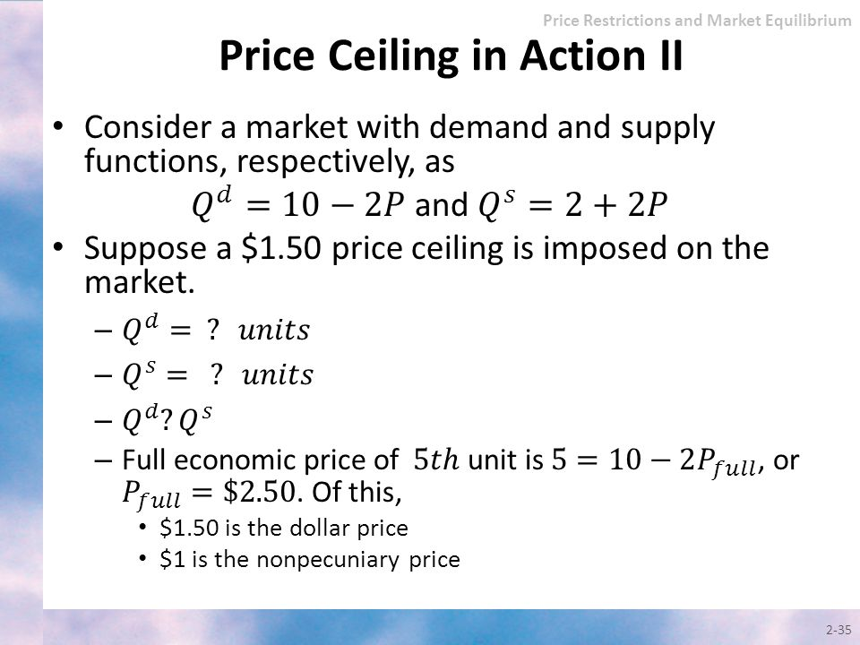 Price Ceiling in Action II