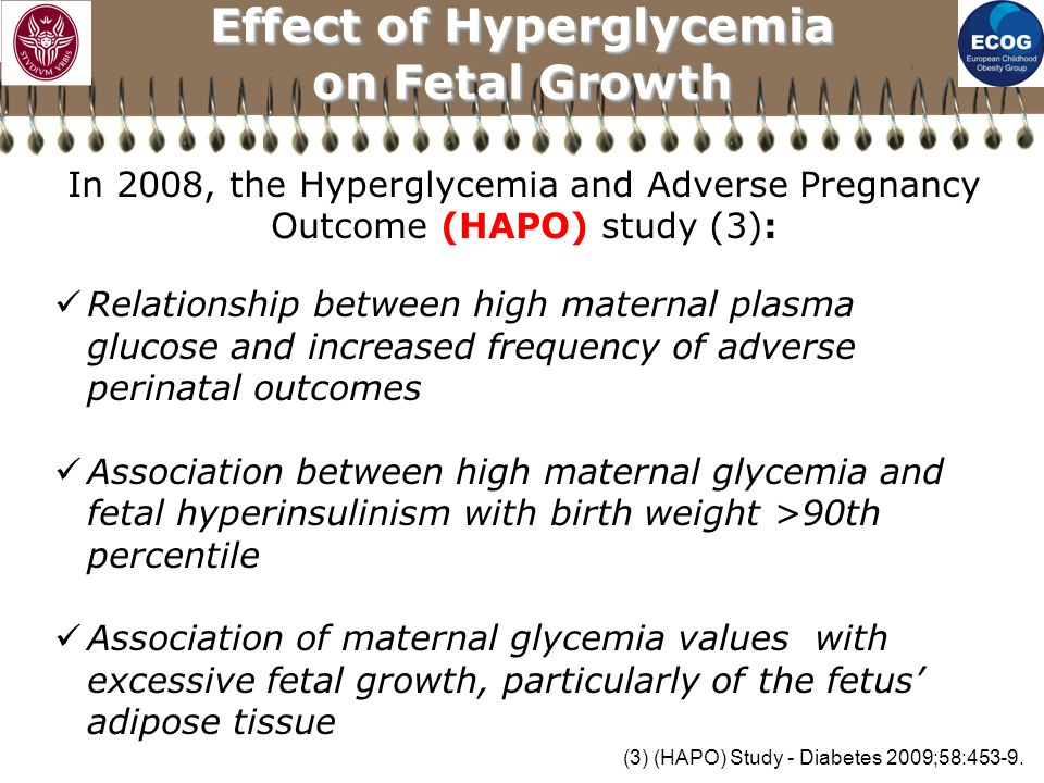 Effect of Hyperglycemia on Fetal Growth