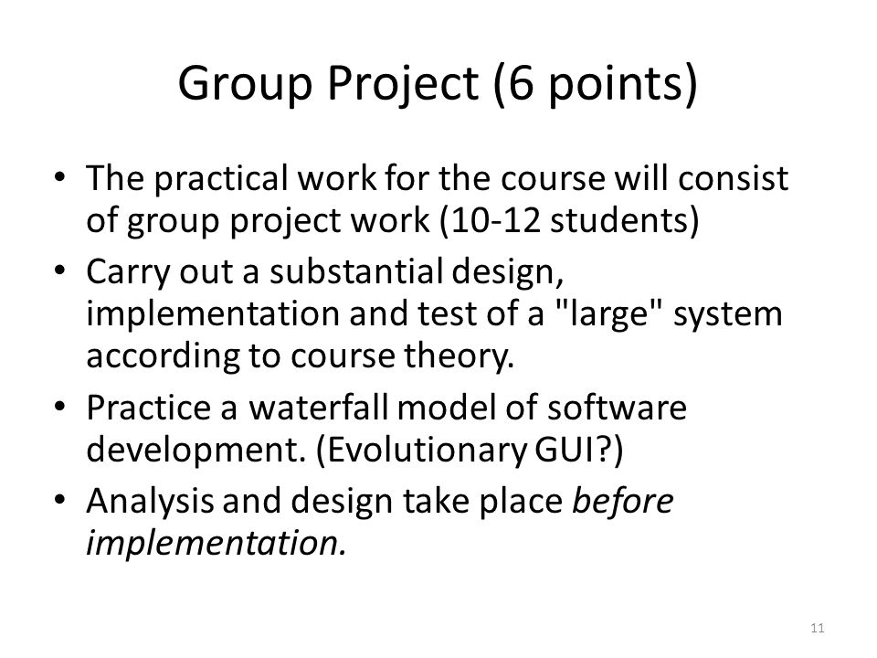 Group Project (6 points)