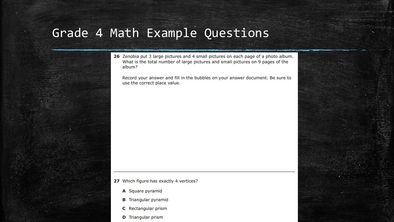 Grade 4 Math Example Questions