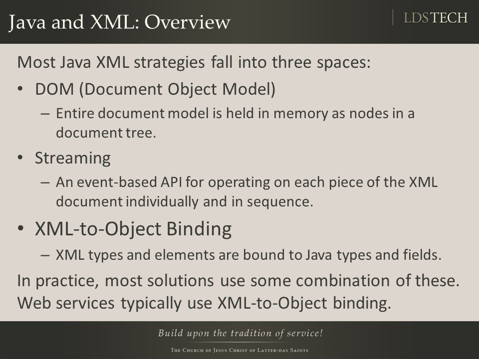 XML-to-Object Binding
