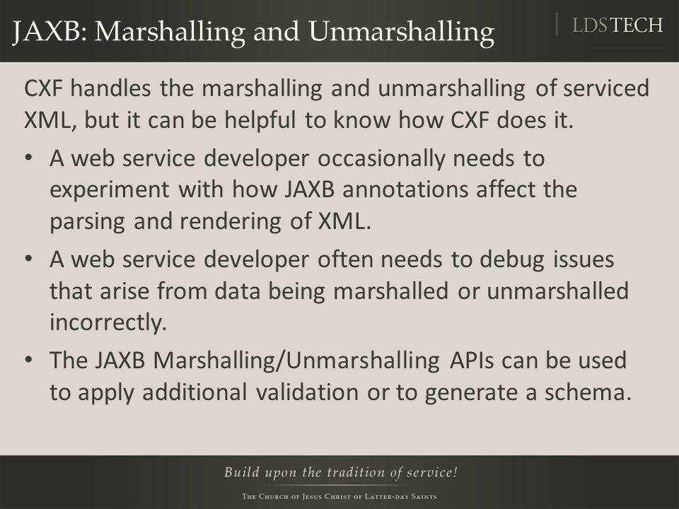 JAXB: Marshalling and Unmarshalling