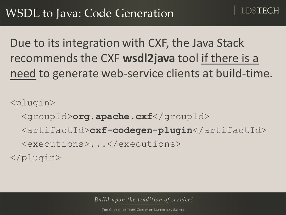 WSDL to Java: Code Generation