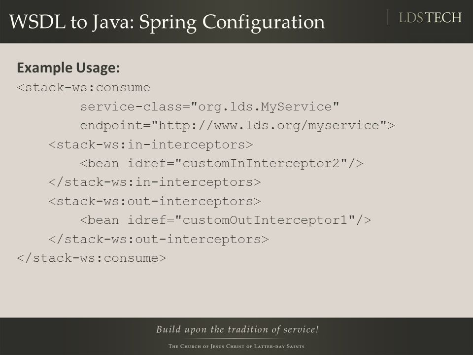 WSDL to Java: Spring Configuration