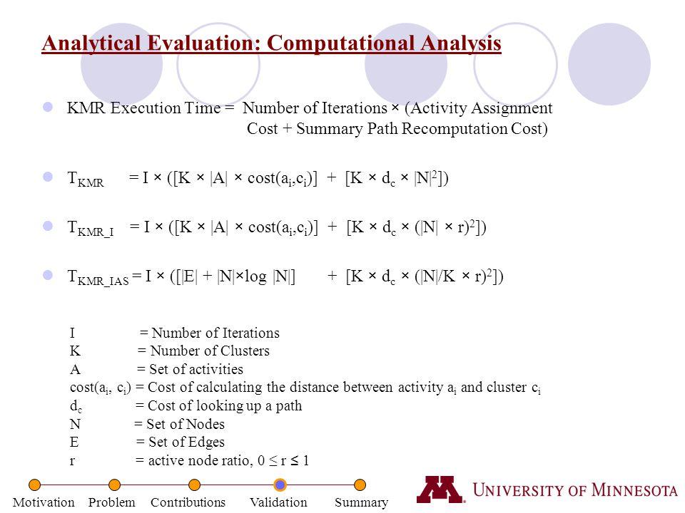 Analytical Evaluation: Computational Analysis