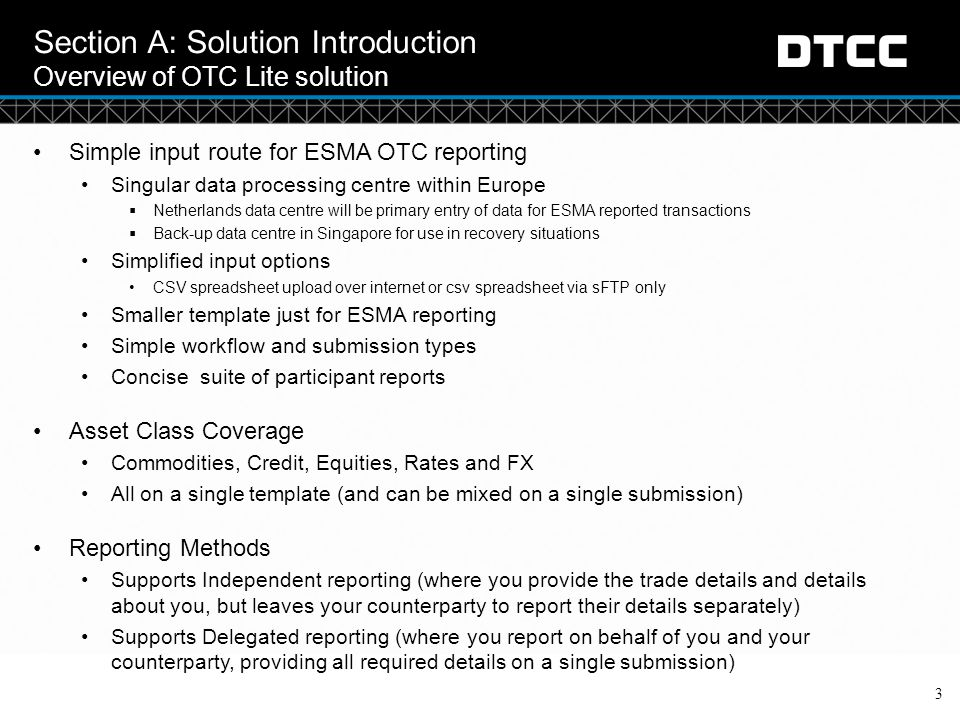 Section A: Solution Introduction Overview of OTC Lite solution