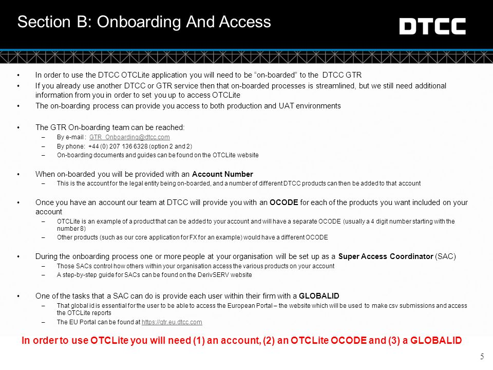 Section B: Onboarding And Access