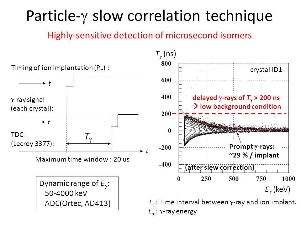 Particle-g slow correlation technique