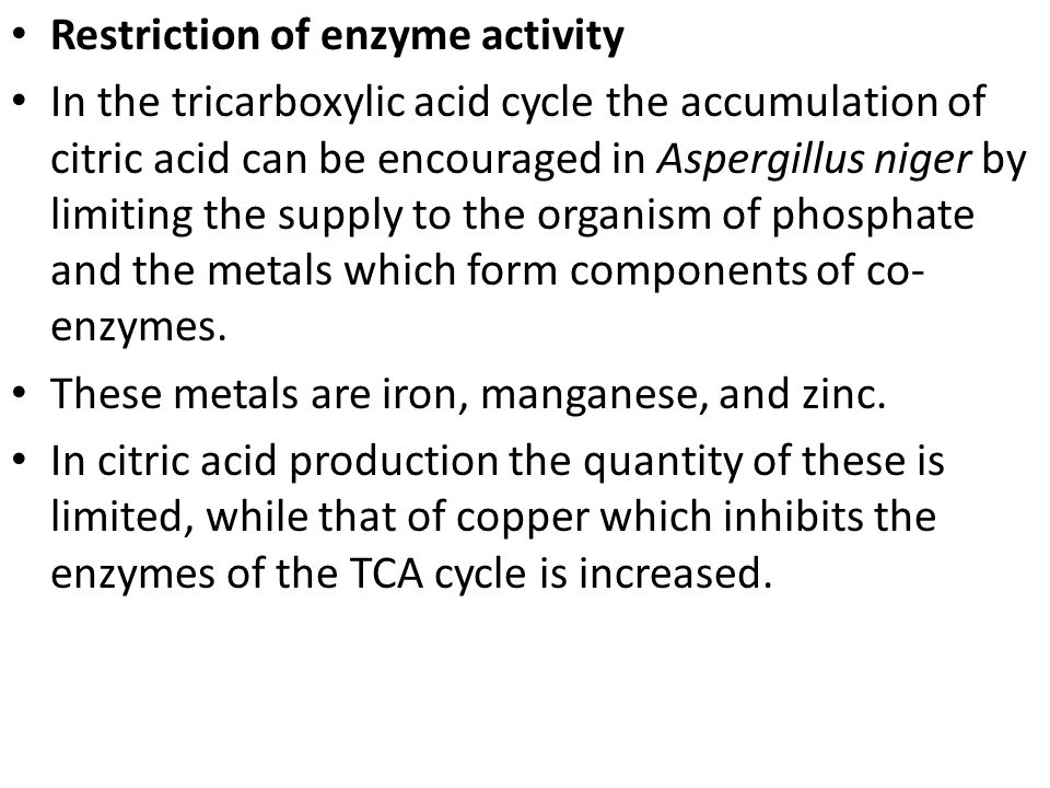 Restriction of enzyme activity
