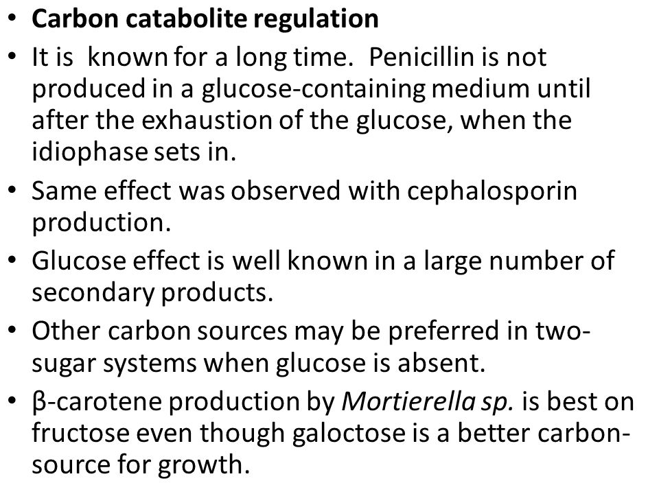Carbon catabolite regulation