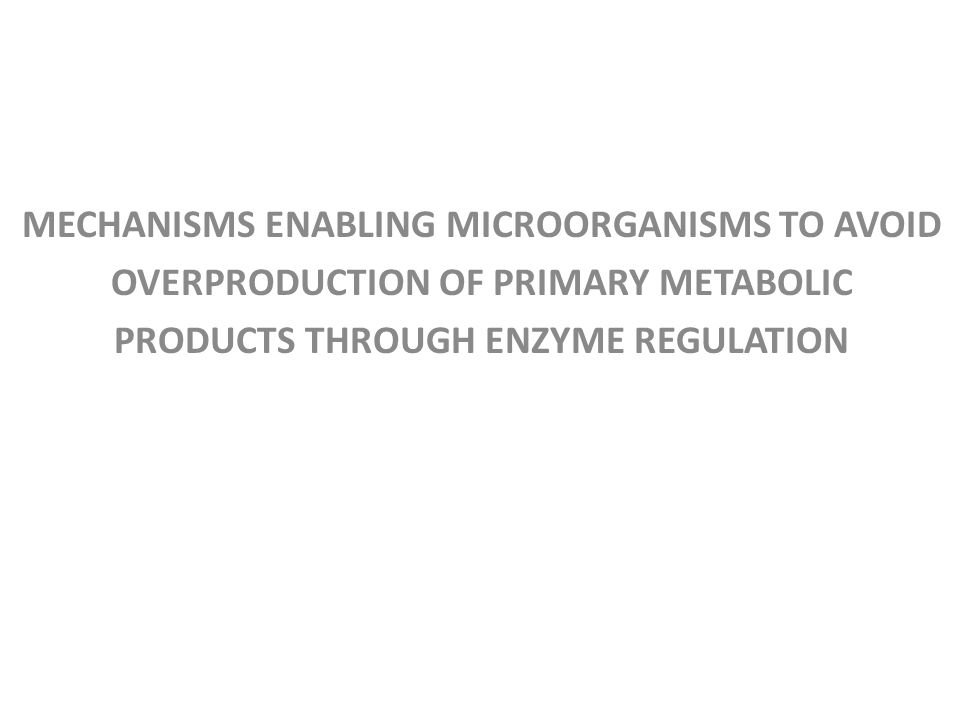 MECHANISMS ENABLING MICROORGANISMS TO AVOID