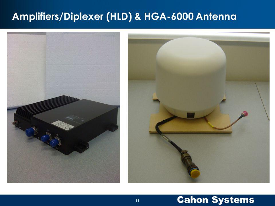 Amplifiers/Diplexer (HLD) & HGA-6000 Antenna
