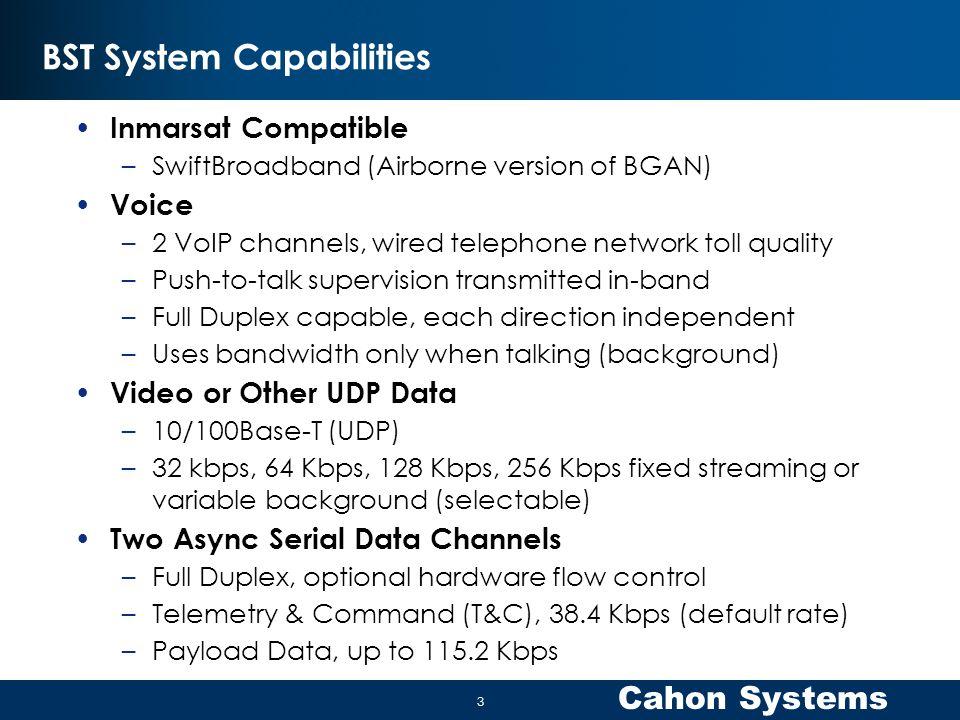 BST System Capabilities