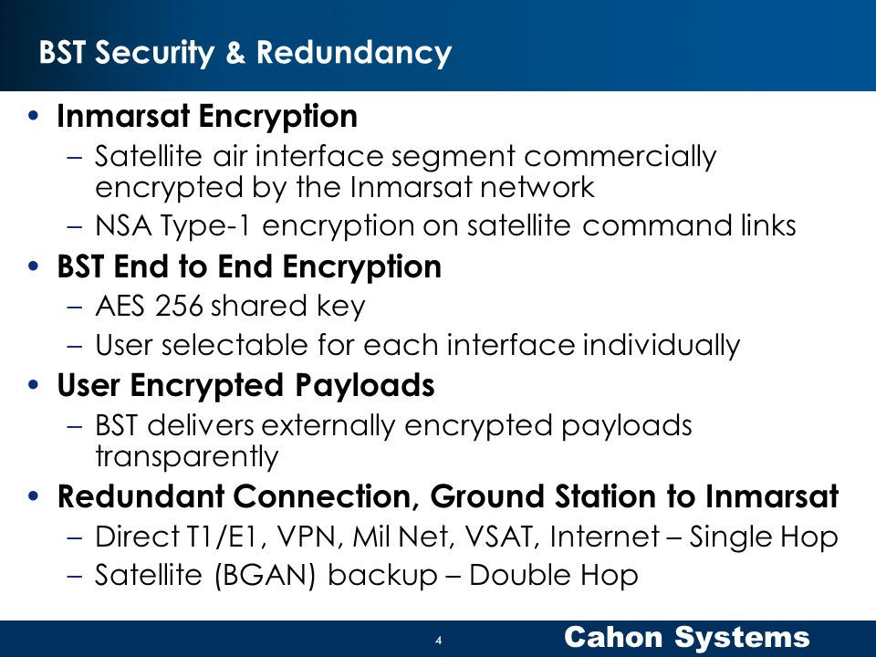 BST Security & Redundancy