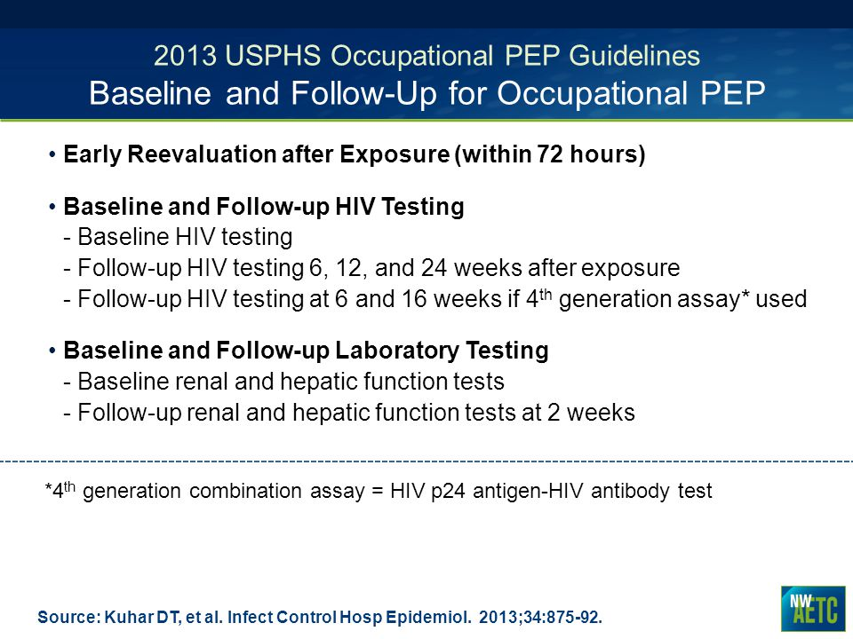 2013 USPHS Occupational PEP Guidelines Baseline and Follow-Up for Occupational PEP