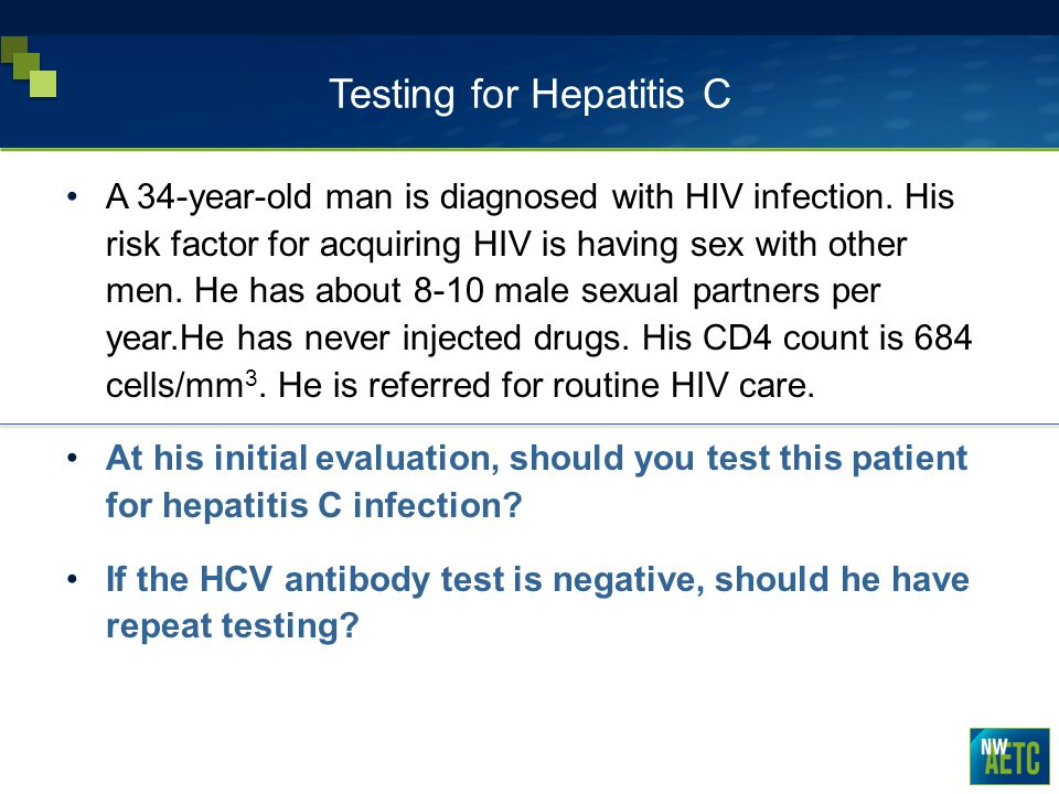 Testing for Hepatitis C