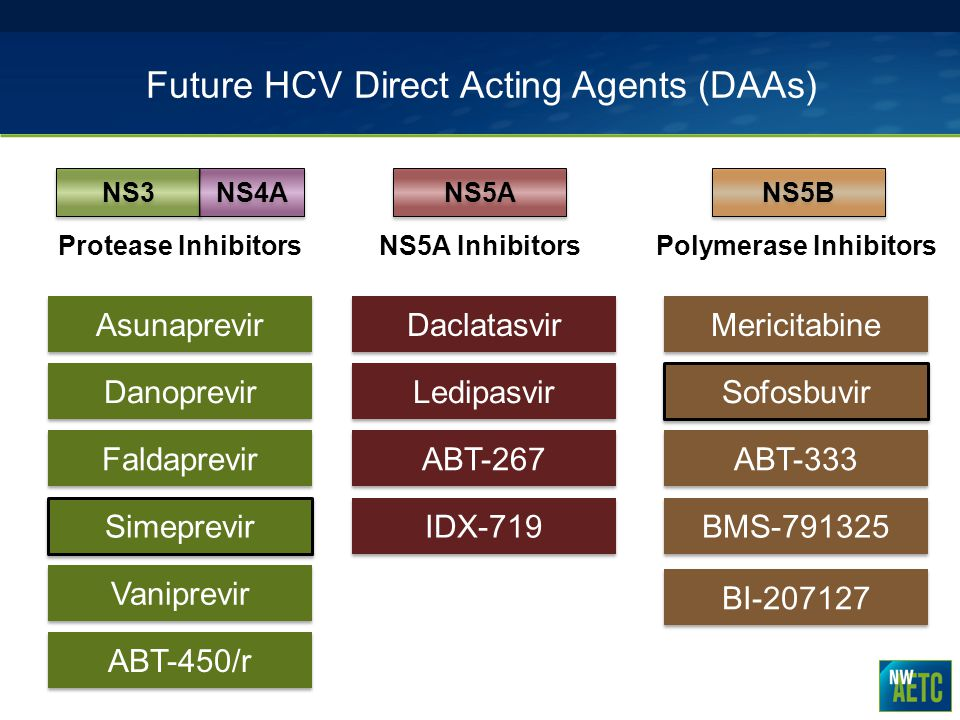 Future HCV Direct Acting Agents (DAAs)