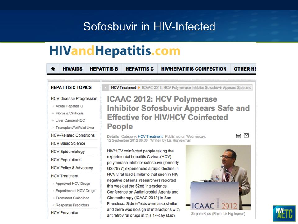 Sofosbuvir in HIV-Infected