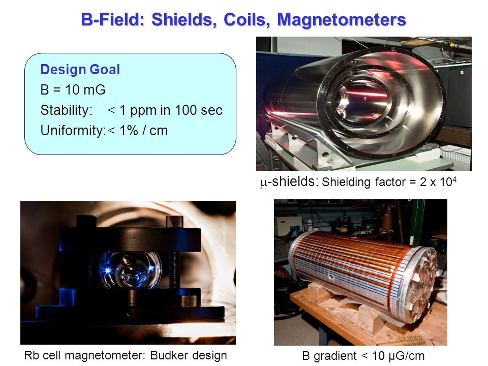 B-Field: Shields, Coils, Magnetometers