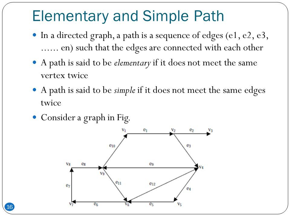 Elementary and Simple Path