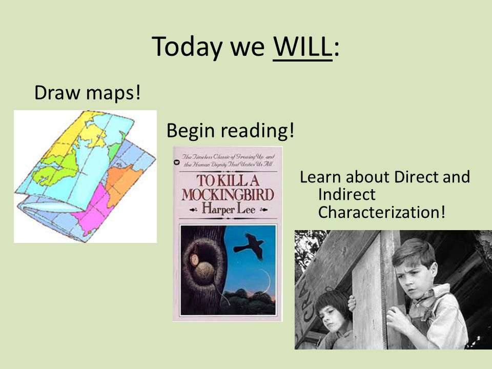 Today we WILL: Draw maps! Begin reading!