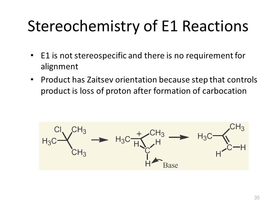 Stereochemistry of E1 Reactions