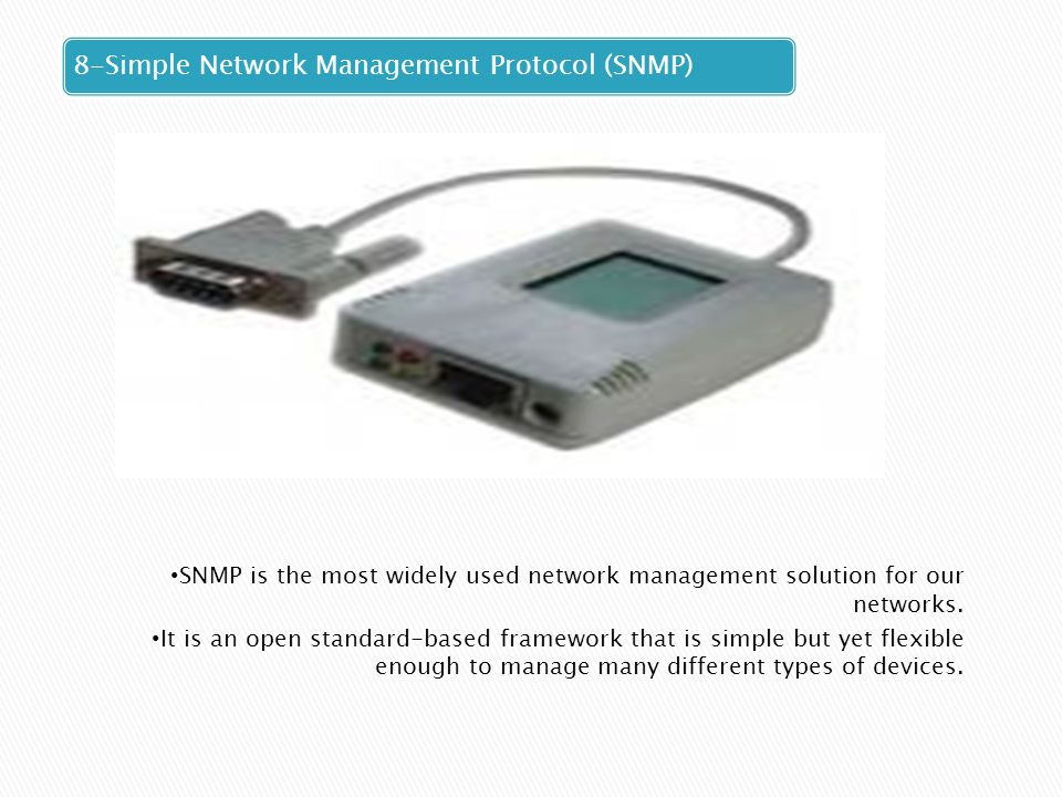 8-Simple Network Management Protocol (SNMP)