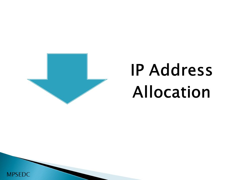 IP Address Allocation