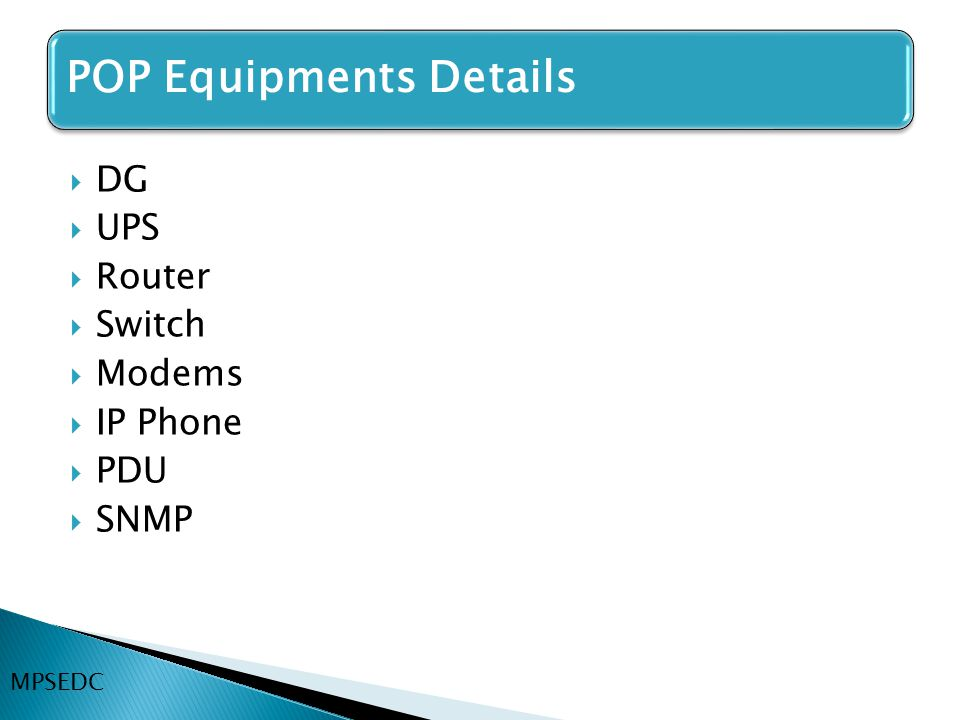 DG UPS Router Switch Modems IP Phone PDU SNMP MPSEDC