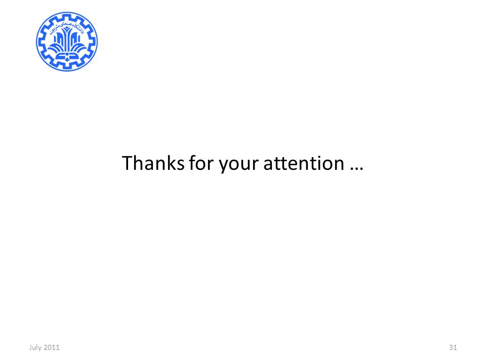 Thanks for your attention …