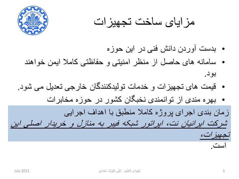 تهیه و تنظیم : علی فتوت احمدی