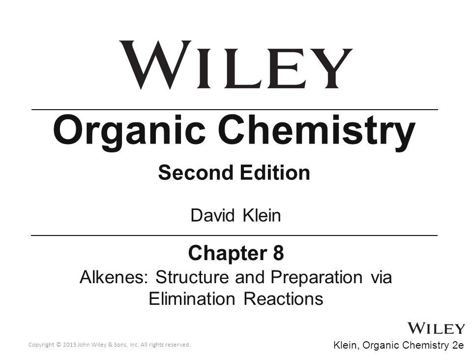 Alkenes: Structure and Preparation via Elimination Reactions